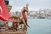 This wooden dragon acts as a figurehead for the bow of ship on the Golden Horn, Istanbul, Turkey. (Remsberg Photos) Tags: bazaar market souk spice istanbul turkey city urban dragon boat middleeast bow decoration led ship figurehead wooden transporation