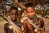 Young Hamar Girls (Rod Waddington) Tags: africa african afrique afrika äthiopien ethiopia ethiopian ethnic etiopia ethnicity ethiopie etiopian omovalley omo outdoor omoriver hamer hamar tribe traditional tribal culture cultural children beads tree landscape portrait people girls