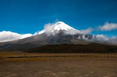 Straight A (LynxDaemon) Tags: mountain snow sky landscape quito ecuador cotopaxi clouds barren brown blue amazing