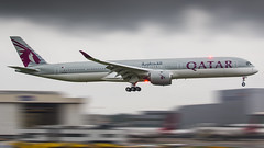 A7-ANA Qatar Airways Airbus A350-1041 (Stefan Blok) Tags: sky airplane jet a350 doha uk airport airfield airline qatar qtr qr londonheathrowairport heavy cockpit cloudy panning aviaporn avia airbusa3501000 airbus avgeek aviation a3501000 londonairports lhr egll a35k a7ana qatarairways london heathrow