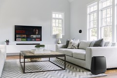 Contemporary Family Room In Home (Little Red Rooster Summer Showcase) Tags: beautiful blank casual contemporary control decor decoration elegant family flat home house interior livingroom lounge modern monitor nobody realestate remote residence residential room screen stilllife technology television tv unitedstates usa wall white