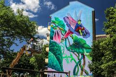 Tomorrow never come (JuliSonne) Tags: streetart urbanart wall graffiti colors scene urban pasteup stencil street berlin muralfestivalberlin mural nataliarak