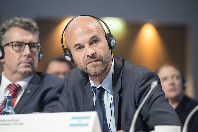 Guillermo Dietrich deep in thought at the Closed Ministerial