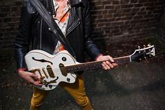MJ (Gary Kinsman) Tags: canon5dmkii canoneos5dmarkii canon35mmf2 flash canonspeedlite430exmkii 2018 e1 whitechapel people person mj mjmoon temporalcomet portrait portraiture guitar epiphone fashion yellowjeans epiphonewildkatroyale leatherjacket pose posed