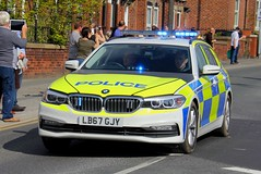 BMW Motors UK BMW 530d Touring Police Demonstrator (PFB-999) Tags: bmwuk motors bmw 530d 5series touring estate police demo demonstrator lightbar grilles dashlight leds lb67gjy tour de yorkshire 2018