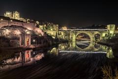Luces de San Martín (Jaime A Ballestero) Tags: jaimea toledo tajo puente sanmartín navidad luces nocturna