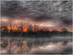 Reflecting (andystones64) Tags: ashbyville nature reserve naturephotography sunlight sunrise sunlit weather weatherwatch trees reflection mist pond water scunthorpe lincolnshire northlincolnshire northlincs clouds sky