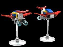 Hub Fighter (The Hydromancer) Tags: hub fighter core mfz rapid attack intercept orbit gundam chubdam mech mecha micro space drone lego