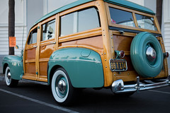 1948 Ford Woodie (Photos By Clark) Tags: california canon2470 unitedstates location northamerica canon5div locale places where escondido us woodie ford 1948 restored classic calcar surfer surfboard lightroom