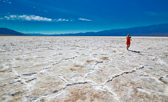 Lady in Red (Joe Marcone (3.1 Million+ Views)) Tags: badwater deathvalley california desert saltflat nikon nikond3200 ladyinred hot