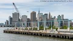 Pier 6 View (20180505-DSC05833) (Michael.Lee.Pics.NYC) Tags: newyork brooklyn pier6 brooklynbridgepark eastriver lowermanhattan crane pier watefront river architecture cityscape skyline wtc worldtradecenter onewtc ferry boat nycferry eastriverferry sony a7rm2 fe24105mmf4g helicopter heliport wallstreet