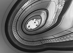 spir@l (II) (Blende1.8) Tags: staircase stairs stair circular spiral treppenauge line lines curve curves treppenhaus treppe handlauf banister architecture architektur gebäude wuppertal interior sony alpha ilce7m3 a7m3 a7iii emount sel1224g carstenheyer