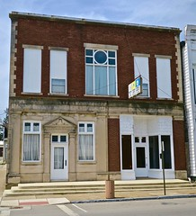 Masonic Lodge, Peebles, OH (Robby Virus) Tags: peebles ohio oh masons freemasons masonic lodge temple bank sign signage chapter 581 fam fraternal organization oes order eastern star