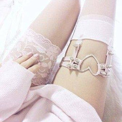 Photo (silencedmistress) Tags: ladylingerie ifttt flickr may 19 2018 0501pm lady lingerie lace white socks garter pin