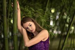Otilia - 3/5 (Pogdorica) Tags: modelo sesion retrato posado chica vestido morado aranjuez jardines oti otilia