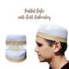 Padded Cotton Kufis with Gold Embroidery (TheKufi.com) Tags: kufi kufis kopyah kufiya peci muslim hats prayer caps