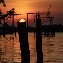 Right spot (mathieuo1) Tags: bentré vietnam sun sunset sunbathing sundown sunlight composition work precize photography island tropical water mekong delta shape form graphic graphism shadow play sharp details river boarders side seascape landscape scape view vietnamese shore shoot night geometry spot boat color asia dlsr nikon travel explore discover nature raw mathieuo