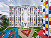 Full Mondrian (Scintt) Tags: singapore multicolored colors vibrant rainbow surreal abstract art mondrian apartments building architecture structure housing real estate public hdb sky clouds panorama stitched nikon 1424 circuit road balam macpherson travel urban exploration city scintillation scintt jonchiangphotography