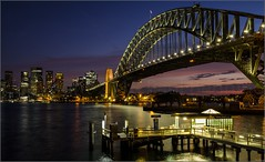 """Sunset & City Lights"" Kirribilli, Sydney, Australia (April 2018) (Kommie) Tags: sydney harbour bridge kirribilli sunset australia dusk fujifilm xpro2 fujinon 23mm f14 r"
