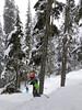 Trevor and Fiona ski In the Spirit (Ruth and Dave) Tags: trevor fiona children skiers whistler whistlerblackcomb blackcombmountain crystalzone inthespirit gladedrun skirun offpiste bumpy moguls