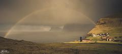Trøllanes (►►M J Turner Photography ◄◄) Tags: trøllanes faroe islands kalsoy faeroeislands faroeislands føroyar færøerne rainbow storm scandinavia