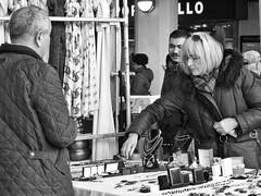 Two Pairs Of Glasses (Douguerreotype) Tags: candid london monochrome market blackandwhite people shop uk british street mono shopping city britain urban gb bw store england