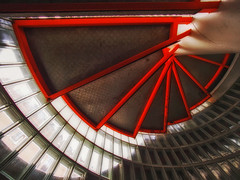 staircase (try...error) Tags: treppenhaus available light stairs red rot stiegenhaus treppe olympus zuiko 714 linescurves lines curves