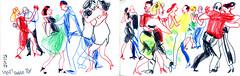 tango10 (marin71) Tags: art drawing sketch urbansketchers illustration tango dancers