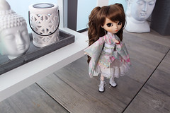Meghan (~ Melody and the dolls ~) Tags: doll dolls pullip veritas obitsu rewigged wig leeke pullips groove kimono