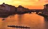 florence sunset (poludziber1) Tags: firenze florence italy sunset orange river toscana boat people travel italia city cityscape