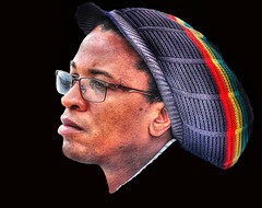 rastaman .... (daystar297) Tags: streetportrait portrait face people black jamaican africanamerican rasta hat cap colors profile nikon