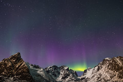 Looking North (Andrew Bloomfield Photography) Tags: lofotenislands andrewbloomfieldphotography fujifilm landscape norway outdoor winter xphotographer wwwandrewbloomfieldphotographycouk northernlights aurora artic colour colours colors mountains