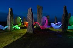 Dancing light (Pikebubbles) Tags: canon creativephotography david davidgilliverphotograhy davidgilliver photography scotland uk lightpainting longexposure nightphotography led leds neon ribbonoflight ribbons lightsaber isleoflewis