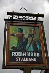 Robin Hood, St Albans (Dayoff171) Tags: stalbans unitedkingdom uk gbg greatbritain hertfordshire pubsigns sign signs england europe