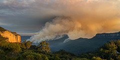 Mount Solitary Burns (benpearse) Tags: mount solitary controlled hazard reduction bushfire burn burnoff fire jamison valley blue mountains katoomba nsw australia rfs ben pearse photography may 8th 2018 echo point 3 three sisters night nighttime landscape narrowneck plateau land management npws