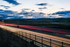 580 easten sunset (pbo31) Tags: eastbay alamedacounty bayarea california evening may spring 2018 boury pbo31 color nikon d810 livermore roadway lightstream motion traffic infinity 580 highway overpass sunset sky over