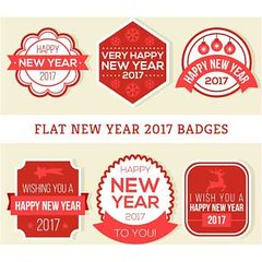 free vector Happy New year 2017 Flat Badges (cgvector) Tags: 2017 art background badge badges banner card celebration christmas claus clip clipart collection decoration design element frame gift greeting happy holiday icon illustration invitation label merry new object ornament retro ribbon santa season set sign snow snowflake snowman sticker symbol tree vector vintage winter xmas year