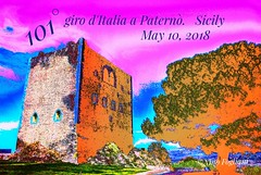 10 Maggio 2018.   Giro d'Italia a Paternò .  Sicily (Nino Fogliani 58) Tags: castle fortress history italy medieval norman paterno sicily bluesky building culture excursions green hill historical holidays monuments old rocks stones tourism town travels tree activity age ancient archaeology architecture background blue catania clear defense italian ladder landscape middle military nature outdoor outside sky stronghold sunny tower war
