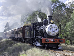 Vintage 1913 Z27 class Steam locomotive 2705 of NSW Rail Museum performing shuttles between Thirlmere and Buxton today - SEE BELOW (Time Off Photography) Tags: nswrailmuseum steamloco2705 steamtrain loco 2705 z27 class pwd5 vintagetrain nswgr hunsletenginecompany heritagelisted olympusomdem10 paulleader steamengine steam transport transportation train travel tourist rail railway railroad passenger thirlmerensw nsw newsouthwales australia railpage:class=372 railpage:loco=2705 rpaunswz27class rpaunswz27class2705 locomotive