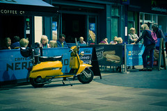 time for a coffee (rich lewis) Tags: street streetphotography cardiff lambretta coffee richlewis