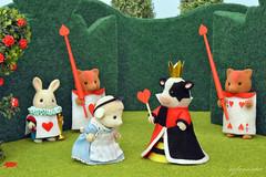 Sylvanian Families - Alice in Wonderland (Sylvanako) Tags: sylvanian alice wonderland miniature diorama figures