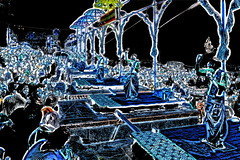 India - Uttar Pradesh - Varanasi - Night Puja- 457dd (asienman) Tags: india uttarpradesh varanasi asienmanphotography asienmanphotoart