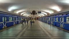 "At the metro station ""Ploshcha Lenina"" (Lenin square), Minsk, Belarus (Frans.Sellies) Tags: 20180516063243 minsk metro subway мінск минск беларусь"