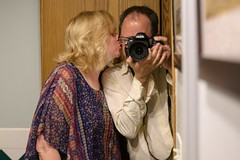 Time to put the camera down (backbeatb00gie) Tags: romantic couple d850 home kiss me mirror nikon selfie us wife