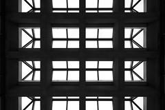 Montréal's Metro Station 1/68 - Honore Beaugrand - Ligne Verte (VdlMrc) Tags: montréal métro subway architecture miniamliste minimalism monochrome blackandwhite noiretblanc geometry géométrie station québec canada stm
