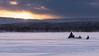Evening Ski-Doo Adventure (mr_m_tom) Tags: tracks tree sunset sun snow skidoo finland sweden muonio harriniva sleigh sledge