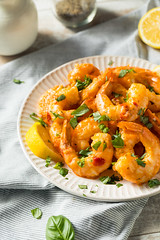 Homemade Spicy Garlic Shrimp (brent.hofacker) Tags: appetizer cajun chili chilli closeup cooked cooking crustacean cuisine delicious dinner dish food fresh garlic gourmet grilled healthy hot lunch meal mediterranean parsley plate prawn red roast sauce savory seafood shellfish shrimp snack spice spicy spicygarlicshrimp spicyshrimp tasty traditional vegetable