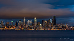 Count the Cranes (Stephanie Sinclair) Tags: nikond810 city cityscape clouds nikon seattle seattleempress stephaniesinclairphotography zeiss