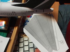 IMG_20180119_171429 (Hipo 50's Maniac) Tags: boeing 737800 westjet papercraft 1100 scale by paperreplikacom paper model aircraft jetliner plane 737 next generation