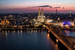 Cologne by night (..Jan) Tags: köln dom cologne nacht night city flus fluss river spiegelung mirror blue hour blaue stunde